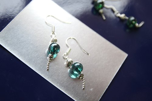Blue jelly bead earrings