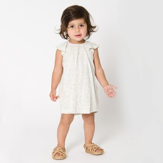 Nordic organic cotton children's clothing baby dress beige