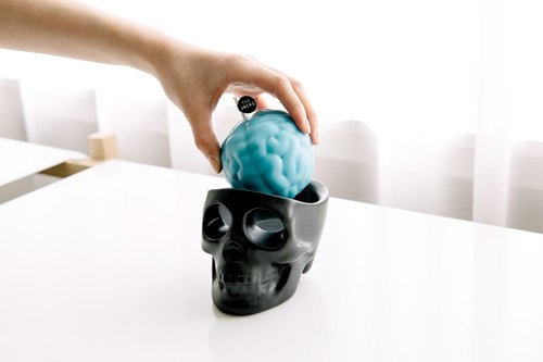 Korea The Jacks black skull candles Group Candlestick + brain