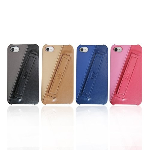 iPhone4 / 4S Easy Hold-color leather protective shell
