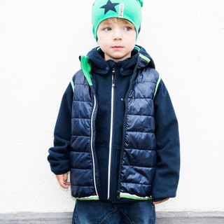 [Nordic children's clothing] Sweden function waterproof microfiber cotton vest green