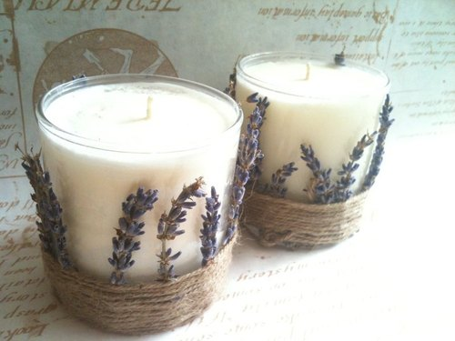 Original fragrance lavender soy candle