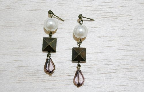 Alloy * * _ pin punk pearl earrings -Little Punk -