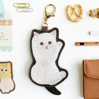 JETOY, Choo choo sweet cat doll keychain purse _Cream (J1406906)