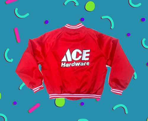 US firms │ ancient cave system x Red ACE Hardware │ vintage coach jacket