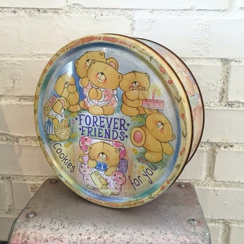 The European system Forever Friend - Teddy Bear old tin / old cans