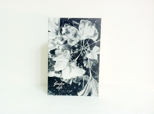 Garden Life 2 │ foliage plant lines feel stitch blank notebook