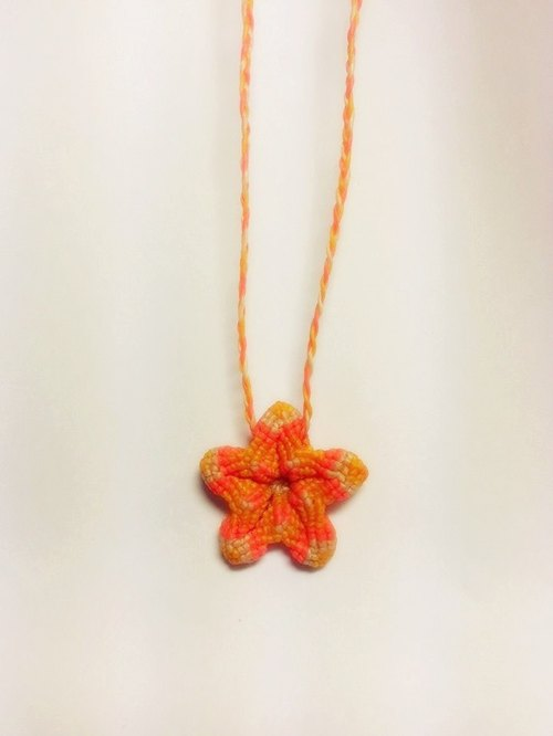 Caribbean silk handmade wax line 3D starfish necklace