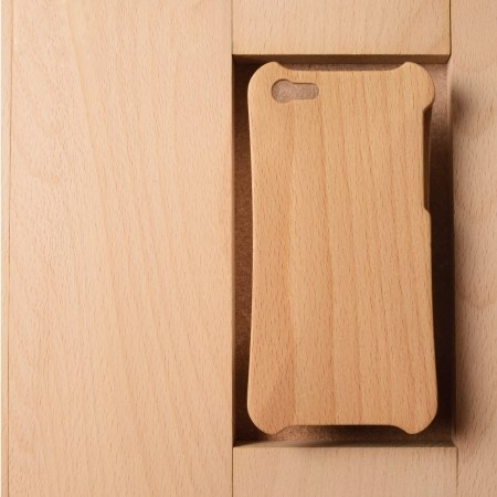WKidea iPhone 5 / 5S ergonomic beech wooden shell _