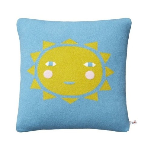 SUN pure wool pillow - light blue | Donna Wilson
