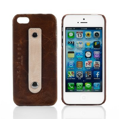 3C accessories -iPhone5 / 5s phone shell protection shell leather color (caramel brown) - Exclusive design models!