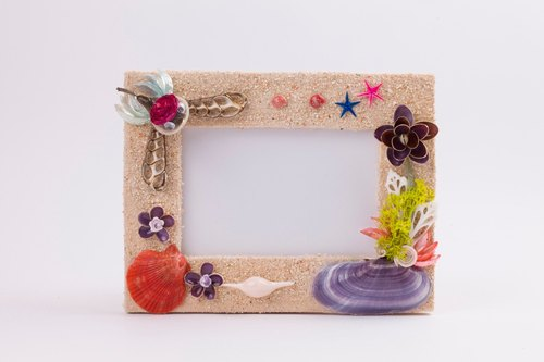 Hand you drunk precious frame - beige romantic