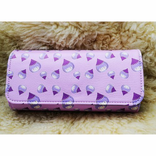 King Q version totem pattern purple patent clutch (comes with subsection wrist band)