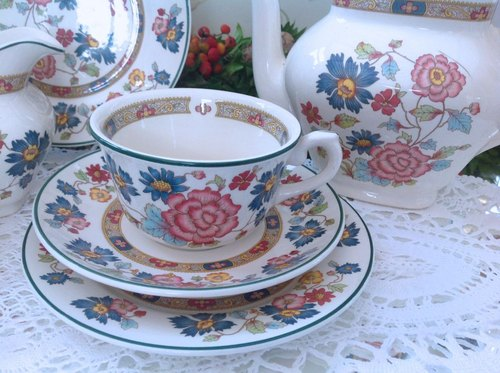 ♥ ♥ Annie mad British antiquities, ceramics Peony flower cup mugs three groups - the new stock - applicable Dishwashers - new inventory