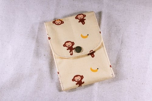 Card business card pouch - yellow naughty little monkey