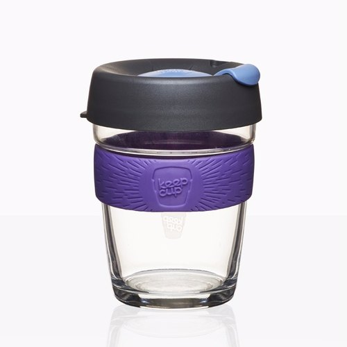 340cc [MSA outdoor fun x environmental accompanying cup KEEPCUP] (Pinot Noir purple) Australia genuine KeepCup glass sculpture accompanying cup 12oz coffee mug