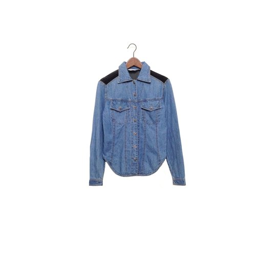 Priceless knew │ │ stitching denim shirt VINTAGE / MOD'S