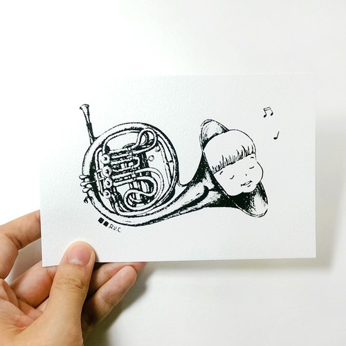 Postcard ★ Little Fat Mui (Horn)