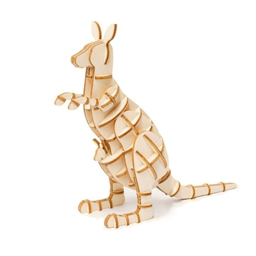 Jigzle® 3D three-dimensional jigsaw puzzle series | Wooden Kangaroo Puzzle | super healing