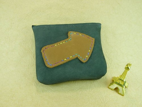 Soui leather travel ◣ ◢ took me to Kyoto - Temple moss green swimming ticket holder / coin purse