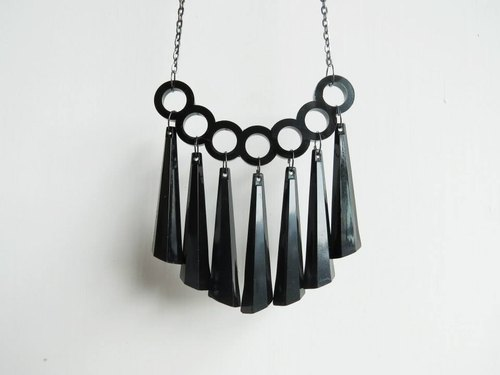 Meteor shower finger tiger black necklace - Cosmos series