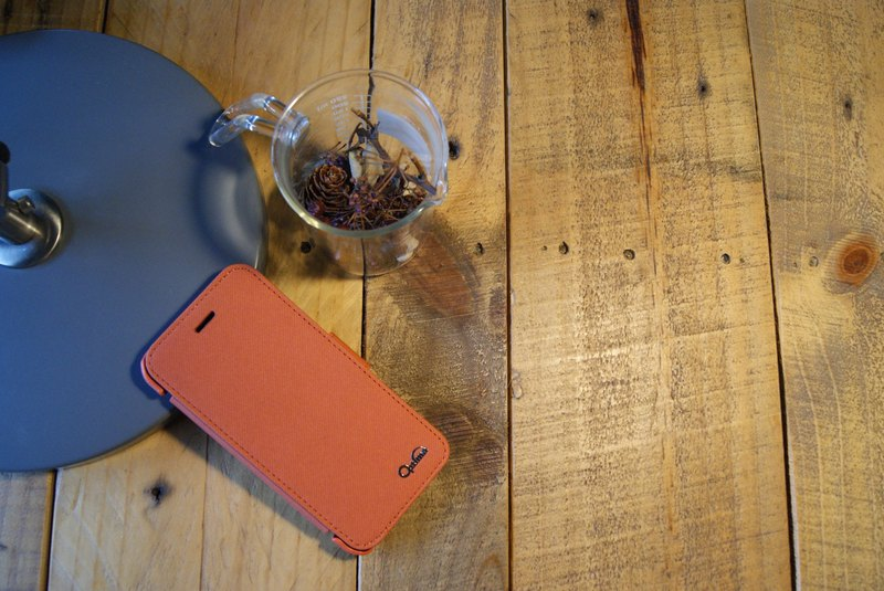 Optima iPhone 6/6s side stand type protective case tannin orange
