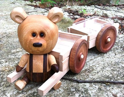 Woodworking Bear doll