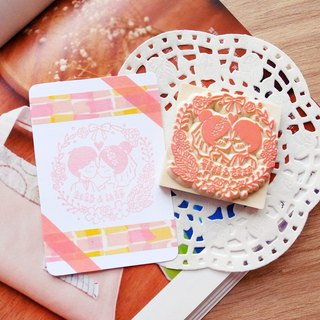 Red Warm Hand Handmade Rubber Slips | Love Kiss Sweet Wedding Chapter 6X6cm