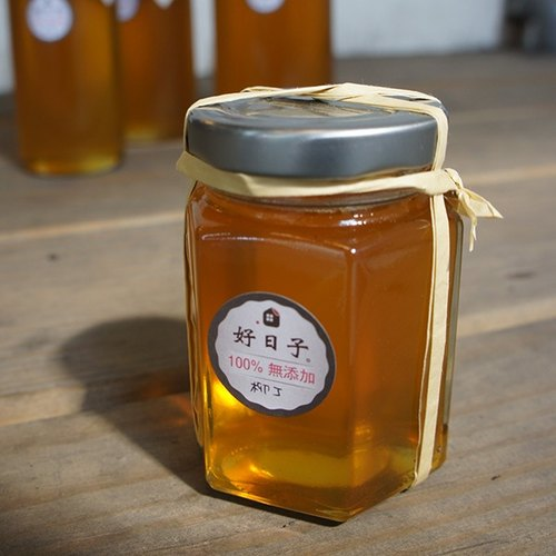 } Seasonal good day: a cup of honey water: 100% natural honey _ orange S
