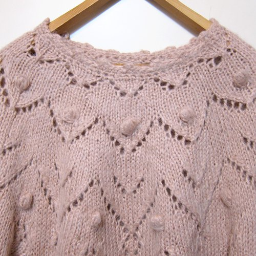 ❄Sentimental❄ pink balls over the United States collar knit sweater vintage
