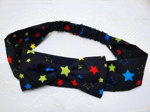 Color Star ribbon bow -