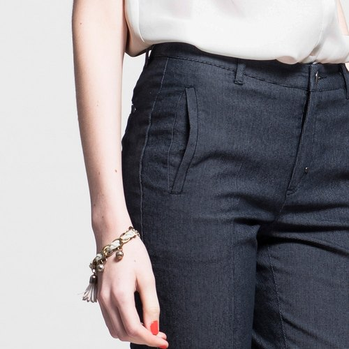 Eight small waist straight jeans - Black NOVI