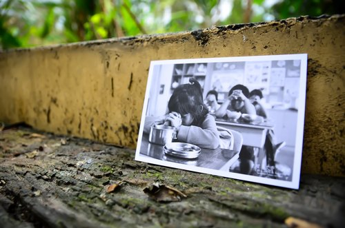 """ devout have "" - children under the series Postcards from Yushan"
