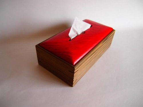 Removable wooden tray Red health