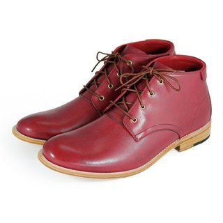 Sweet Violet M1123 Burgundy leather Derby boots