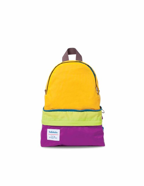 Hellolulu-HANNA-Kids dual backpack (purple / yellow)