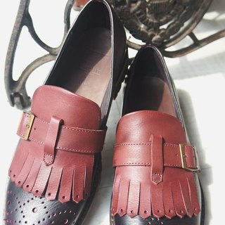 Encounter on the ladder # K4 # [. Classic men's orthodox Carrefour] (burgundy)