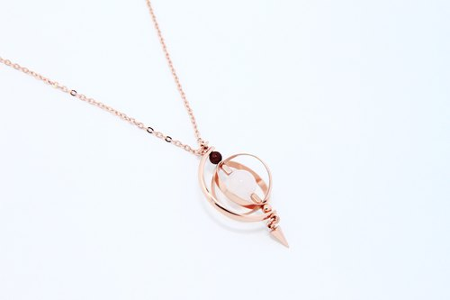 Half moon Planet Necklace