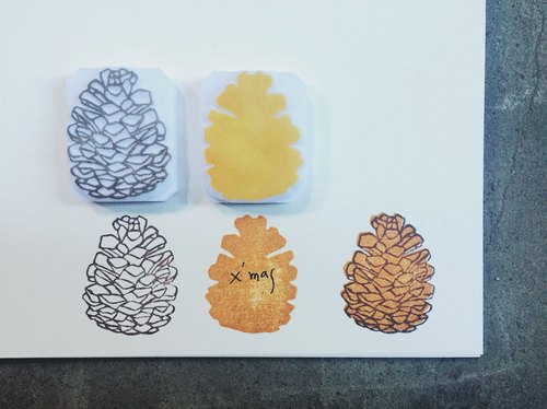 Small size [autumn pinecone] - Which Hand seal cover