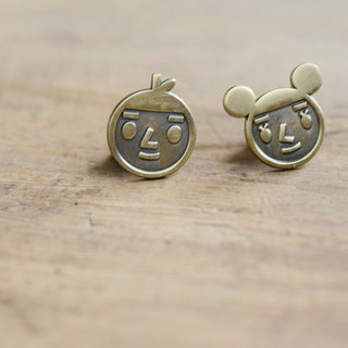 【BestFriend】 brass badge (a pair of 2, girls head has been sold)