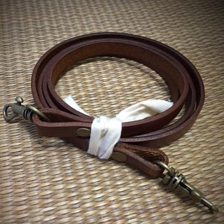 Accessories-Leather Leather Long Strap (120cm)