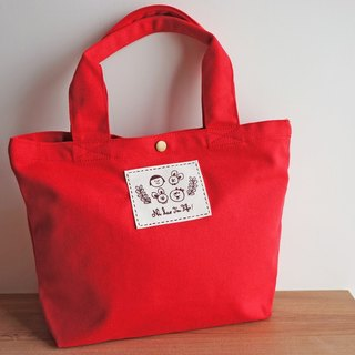 Ni Hao Im FiFi cotton sails Bu Tuote package (cloth standard models) can be shoulder / hand - red