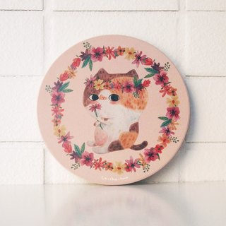 Ceramic water coaster - Hippie Flower
