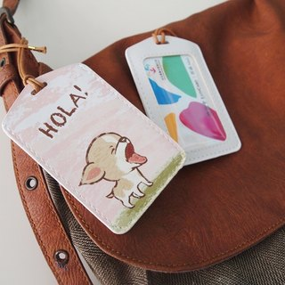 Multifunction card sleeve key ring -Hola! Chihuahua