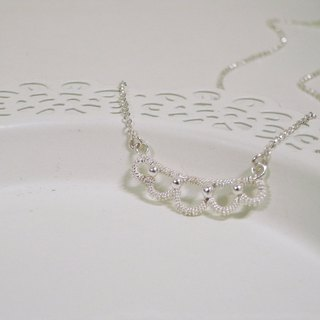 Christmas gift of choice / silver necklace / Lace Feelings (Necklace / Necklace)