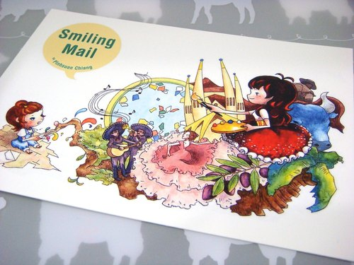 【Pin】Greeting from the exotic country│Print│Postcard