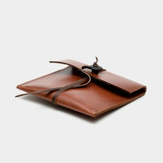 【Literati file】 cowhide wallet red brown leather card folder swim card card business card money wallet carved lettering when the gift