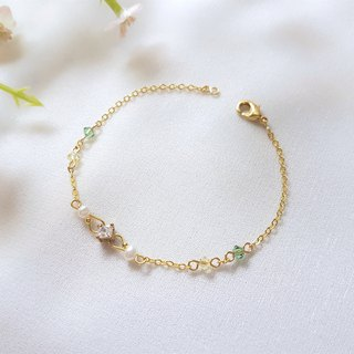 Verbena single crystal pearl crystal bracelet