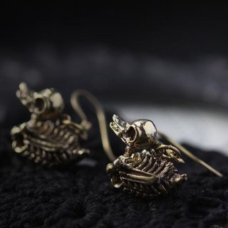 Duck Skeleton Earrings by Defy - Original Design and Made Jewelry