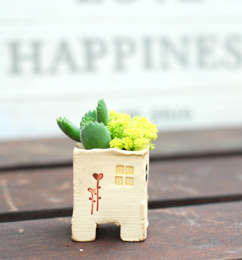"Mini Housing - without Succulents ""empty pots device"" (beige - color) Christmas Gifts"